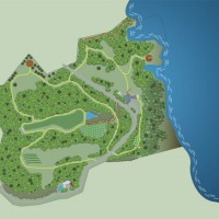 Cliff House and grounds layout map